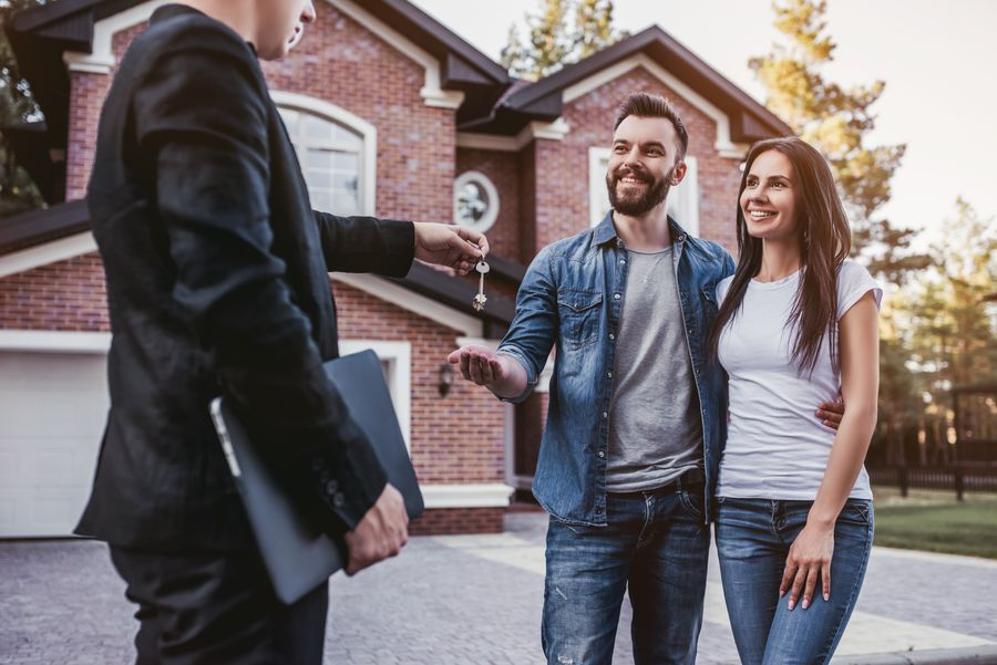 Looking at homes with a realtor