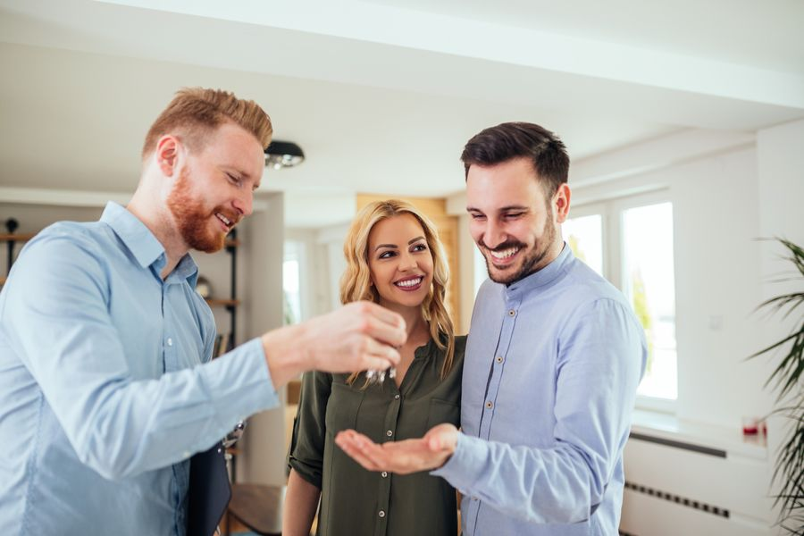 Working with agents to purchase property